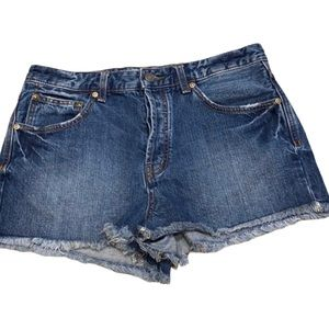 Free People button Fly denim shorts NWOT